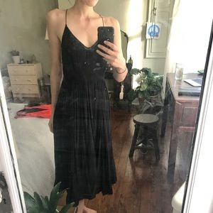 """Urban Outfitters """"Cooperative"""" Black Flowy Dress"""